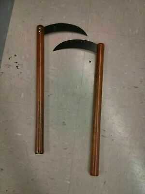 NEW Steel Bladed Kamas (Pair) Weapons Martial Arts Training