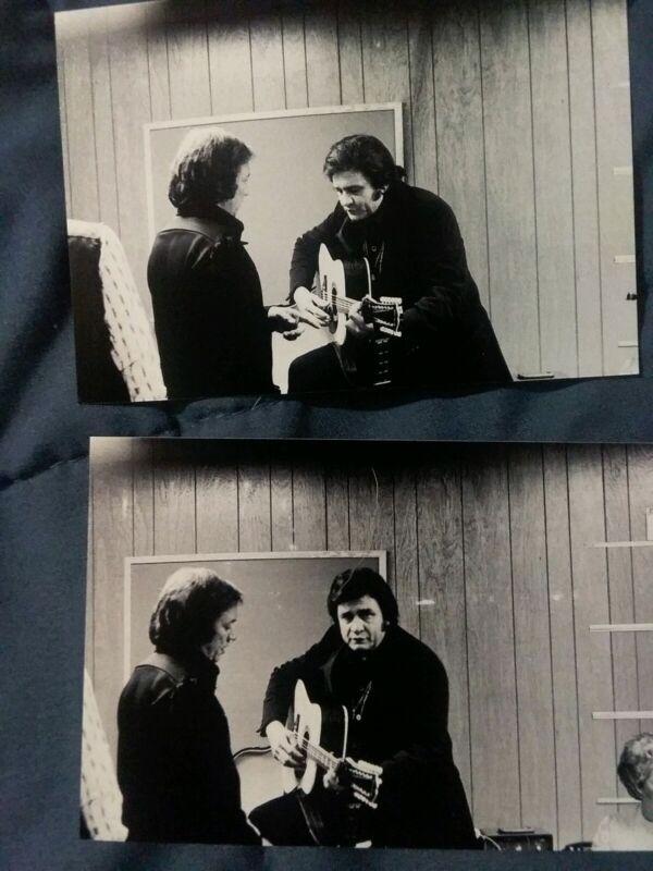 Johnny Cash Larry Butller Candid Backstage Original Unpublished Photograph Lot 2