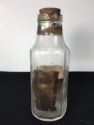 H. J  Heinz & Co. Preserved Sweet Pickles Glass Jar 10 Sides Original Cork 1891 for sale  Stoneham
