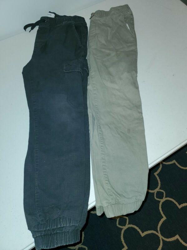 2-OLD NAVY-HUSKY-PANTS-SIZE 10/12-ELASTIC WAIST & ANKLES-GUC!