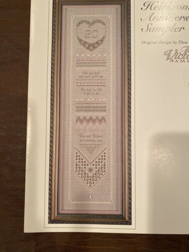 Heirloom Anniversary Sampler Hardanger Thea Dueck 1999 Booklet Accessory Pack - $30.00