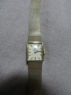 Vintage 70's Omega Swiss Womens 10k Yellow Gold Filled Watch bracelet 17 Jewels