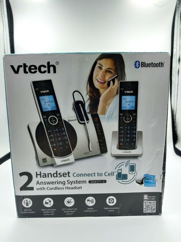 VTech Connect to Cell DS6771-3 DECT 6.0 Cordless Phone.