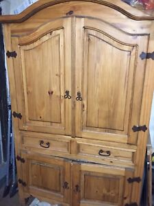 Antique hutch, solid wood