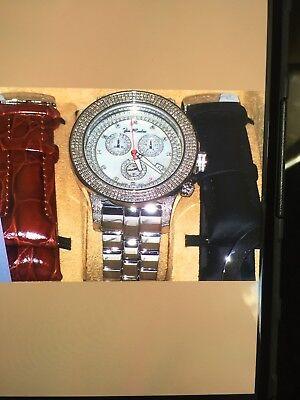 - New Authentic Mens Joe Rodeo Pilot Jrpl1 chronograph 3.15 aprx.Diamond Watch