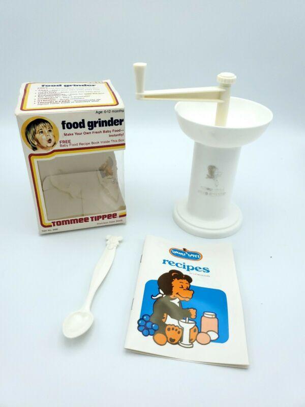 Vintage 1979 Tommee Tippee Original Baby Food Grinder--Stainless Steel Blade