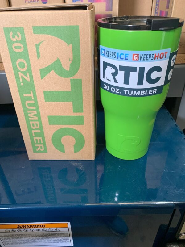 NEW RTIC Hot Cold Double Wall Vacuum Insulated Tumbler 30oz GREEN