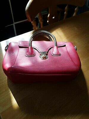 """Used, Ladies """"MODA"""" Red Double Compartment Zipped fastening  Handbag for sale  Shipping to Ireland"""