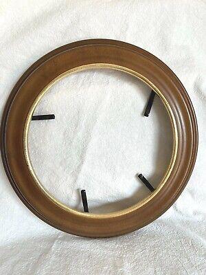 "Van Hygan & Smythe Collector Plate  C S 94 Walnut Wood Frame w Gilded Rim 8 1/2"""