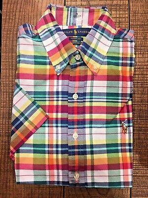 Polo Ralph Lauren Classic Untucked Fit Men's Short Sleeve Oxford Shirt, PLAID