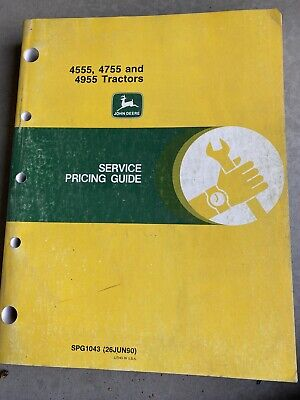 John Deere Technical Manual For 45554755 And 4955 Tractor