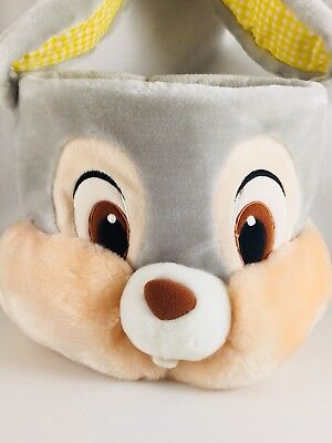 Thumper Bunny Easter Egg Basket Soft Plush Floppy Ears DISNEY Store