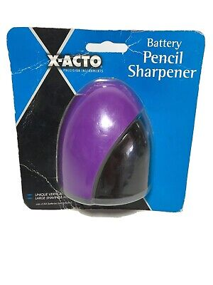 X-acto Purple Pencil Sharpener Battery Operated Easy Carry School Office Supply