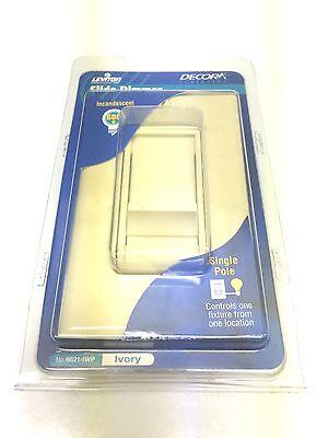 Leviton Decora Slide Single Pole Light Dimmer Switch Ivory (6621-IWP)   Ivory Decora Slide
