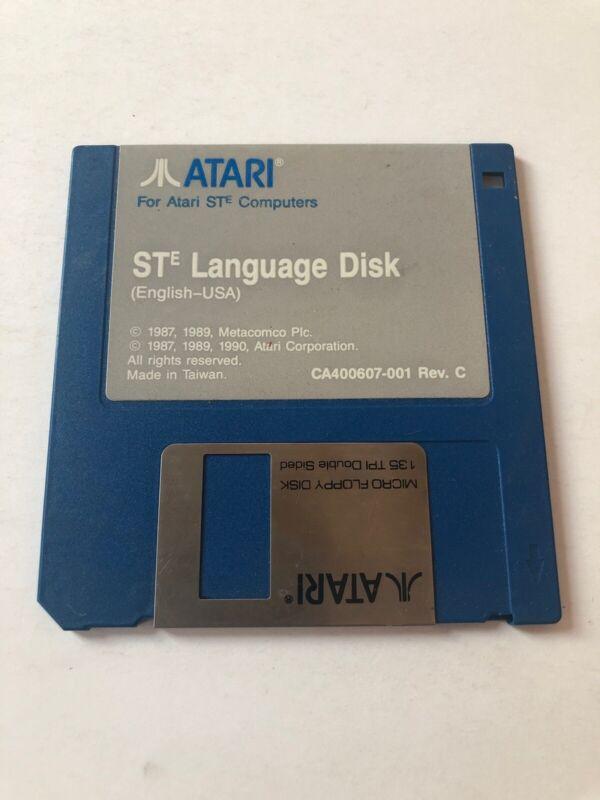 """Atari STe DISK 3 1/2"""" Atari LANGUAGE Disk"""