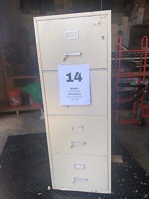 Vertical Fireproof Filing Cabinet W Key Powerwall Office