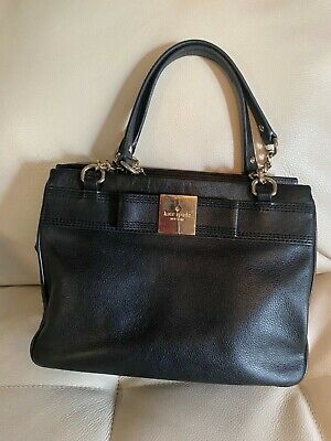 AUTH KATE SPADE PRIMROSE HILL ZIP BOW DARCY LEATHER CHAIN BAG PURSE - RARE