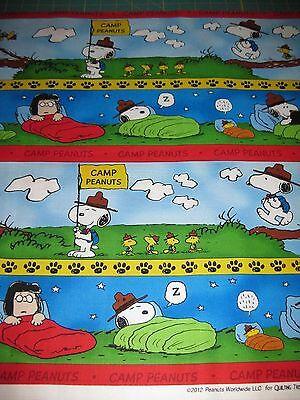 Peanuts Camp Snoopy Stripe Camping Scenes Fabric - Fat Quarter 18