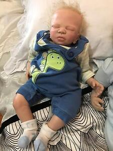 """18"""" reborn sleeping baby boy lifelike doll Docklands Melbourne City Preview"""