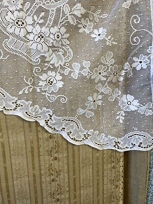 Cotton Lace Curtain Panel