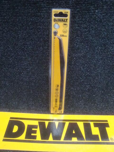 5 X DEWALT DT2349 BI-METAL WOOD CUTTING RECIP SAW BLADES 228MM BOSCH S1111VF