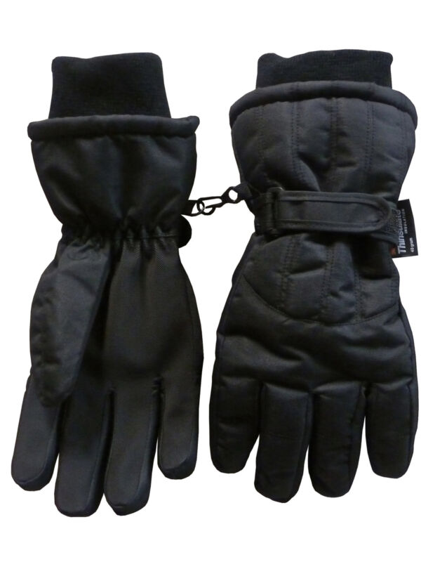 NICE CAPS Mens Waterproof Thinsulate Cold Weather Winter Ski Glove with Ridges