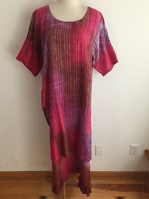 Shop Therapy Overlay Maxi Dress Maroon Fuchsia Magenta Purple Ombre  One Size