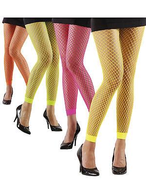 Netz Leggings Neon Pink Grün Gelb Orange Fasching Party