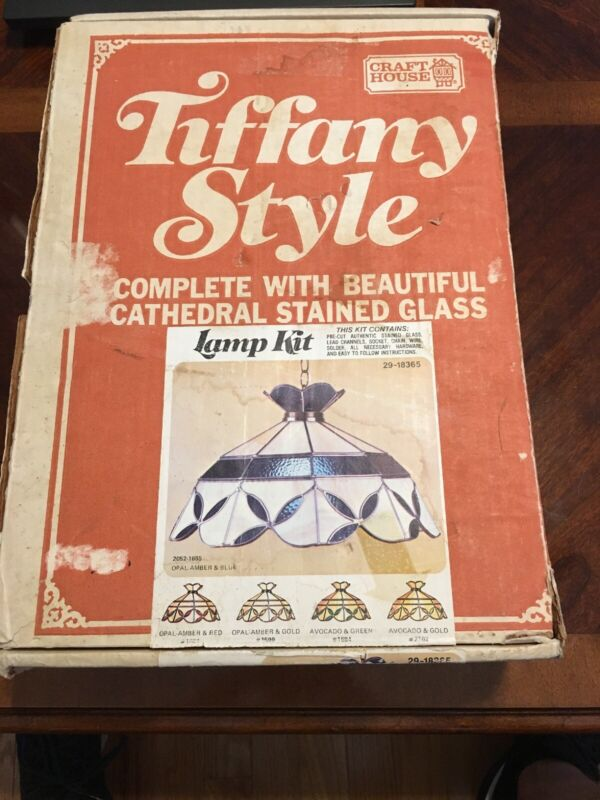 Craft House Tiffany Style Lamp Kit New In Box 29-18365 Vintage Tiffany Lamp