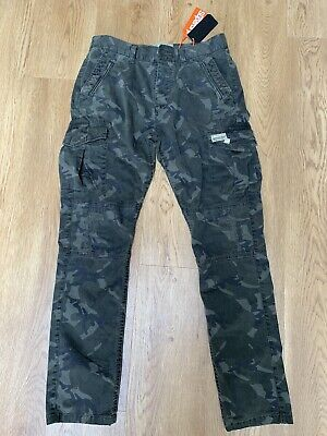 Superdry Girlfriend Cargo Pants Size 10 New Camo Green