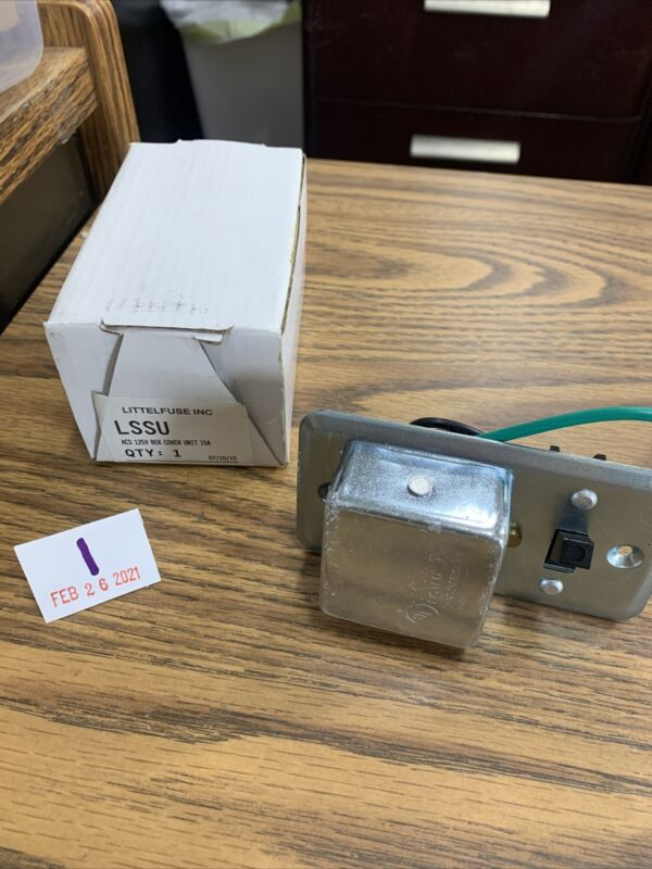Little Fuse LSSU 125V 15A Box Cover Unit **Free Shipping**