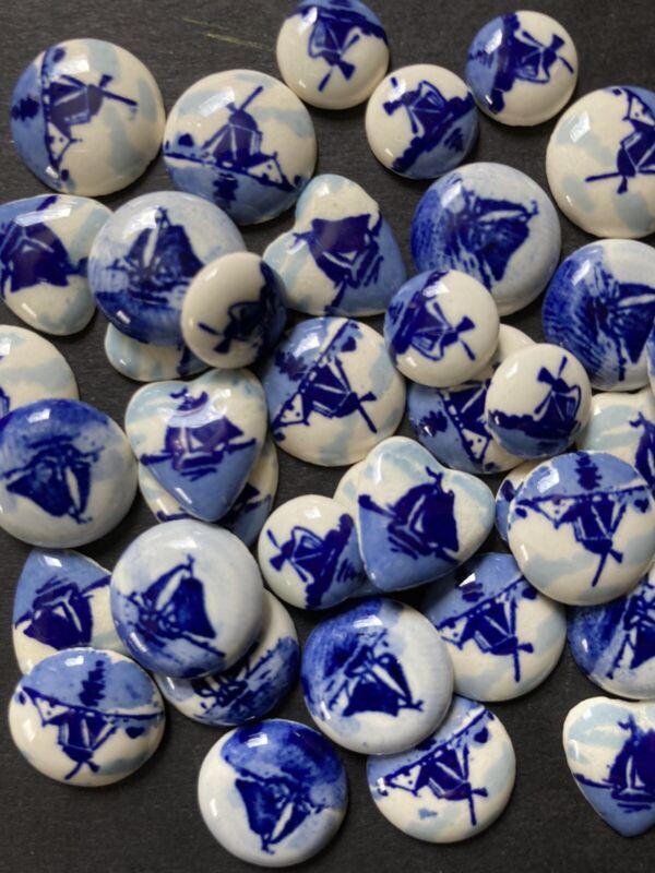 NOS Vintage Delfts Holland Porcelain ~ Lot of 40