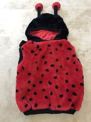 Ladybug Toddler Costume (Toddler Ladybug Halloween Costume Hooded Jacket Plush 1 piece Size 12-24)