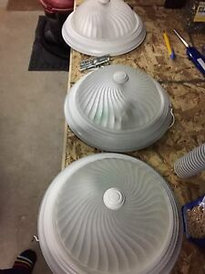 "3 x 11.5"" ceiling lights"