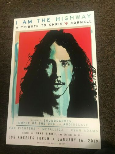 Chris Cornell I Am The Highway 2019Tribute Soundgarden Card Concert Poster 12x18
