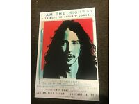 CHRIS CORNELL 2009 WELLMONT THEATER  REPLICA CONCERT POSTER FREE SHIP W//SLEEVE