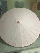 Blush coloured parasol umbrella Rutherford Maitland Area Preview
