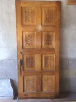 Solid Oak Front Entry Door