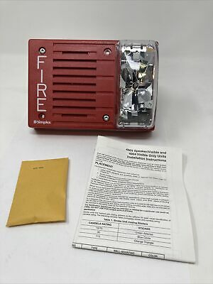 Simplex 4903-9301 Fire Protective Horn Strobe Notification Appliance