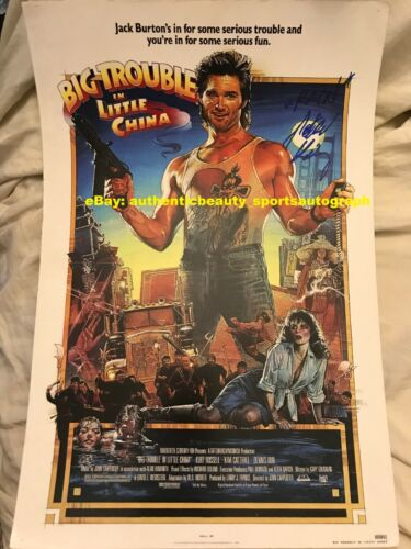 BIG TROUBLE IN LITTLE CHINA KURT RUSSELL KIM CATTRALL HONG SIGNED 12x18 REPRINT