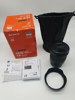 Sony FE 16-35mm f/4 Lens with filter and original accessories