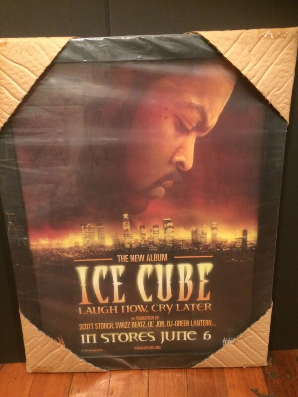 Framed SIGNED Ice Cube Laugh Now Cry Later Autographed Poster 18x24