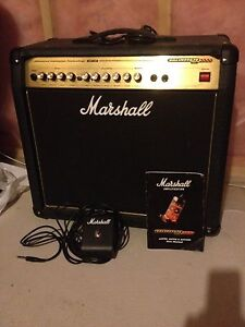 Marshall AVT50 guitar amp with foot switch
