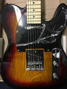 Ashton AGT40 Telecaster Style Electric Guitar TOBACCO SUNBURST