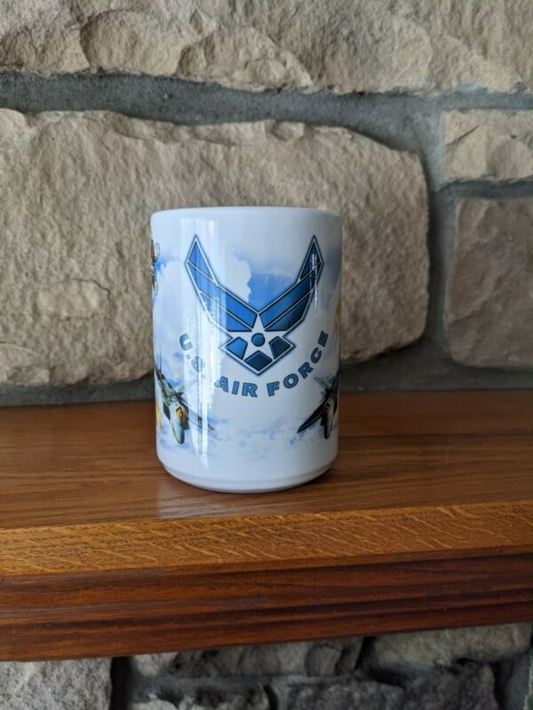 United Stated Air Force Coffee Mug Cup 14oz Made In The USA Fighter Jets Pilots