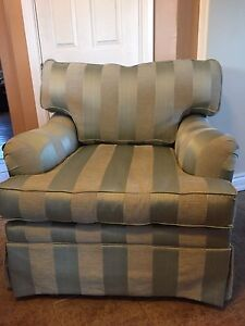 Beautiful striped chair Gray Green