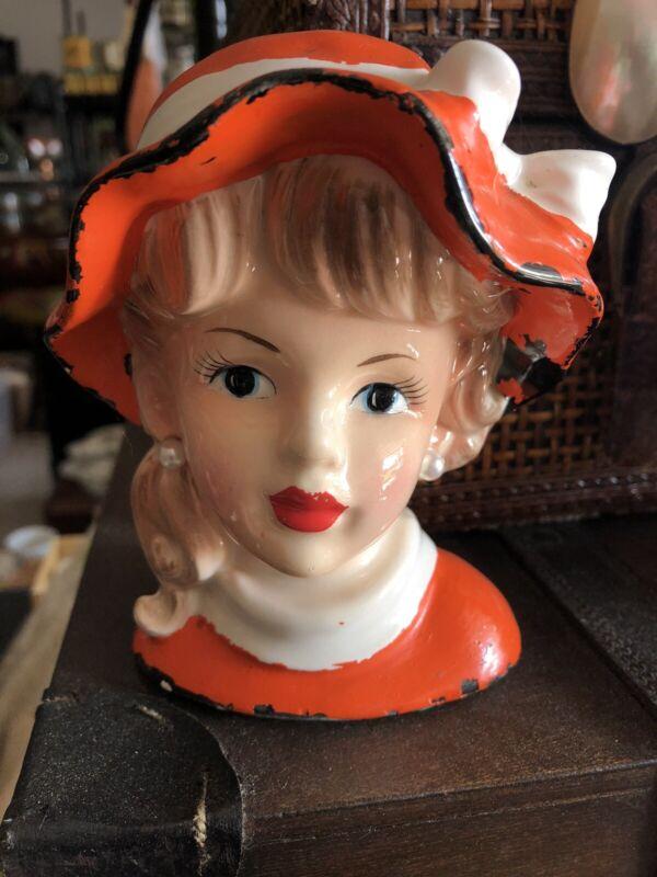 Vintage Teen Head Vase