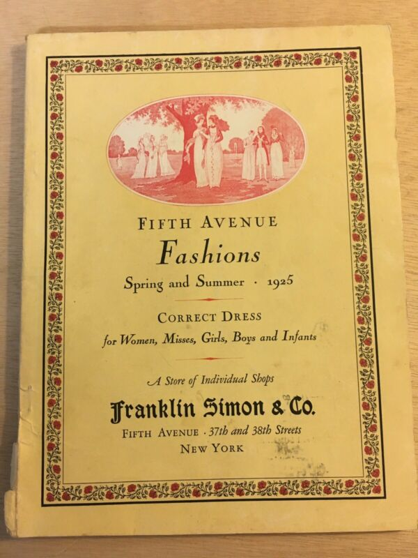 1925 FRANKLIN SIMON 5th AVENUE NEW YORK FASHION CATALOG FLAPPER BRAMLEY LINE