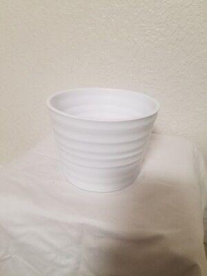 white ceramic vase / pot, flowers / orchids arrangements vases / - White Ceramic Vase