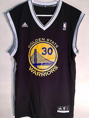 Adidas NBA Jersey Golden State Warriors Stephen Curry Black Alt sz L